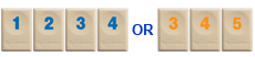 Example of a run in Rummikub